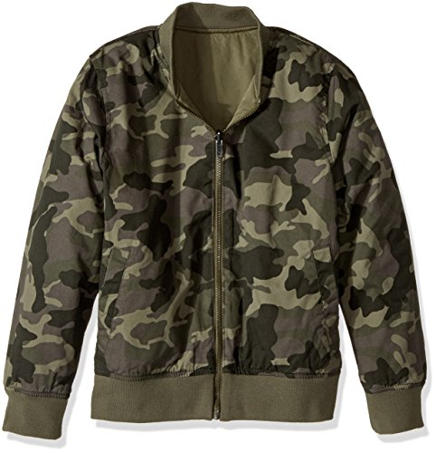 Lucky Brand Big Boys' Bomber Reversible Jacket, Dusty Olive, X-Large (18/20) by Lucky Brand (Image #2)