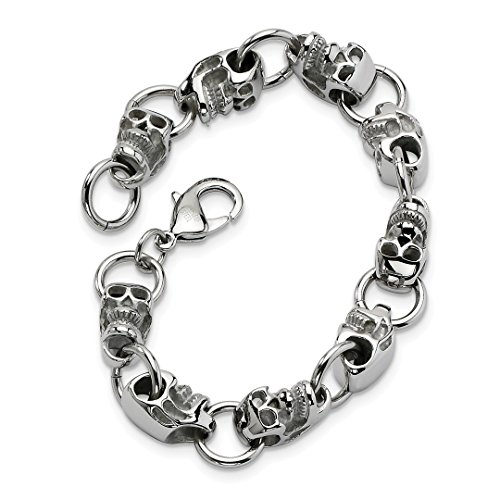 ICE CARATS Stainless Steel Gothic 8.75in Bracelet 8.75 Inch Men Fashion Jewelry Dad Mens Gift Set ()