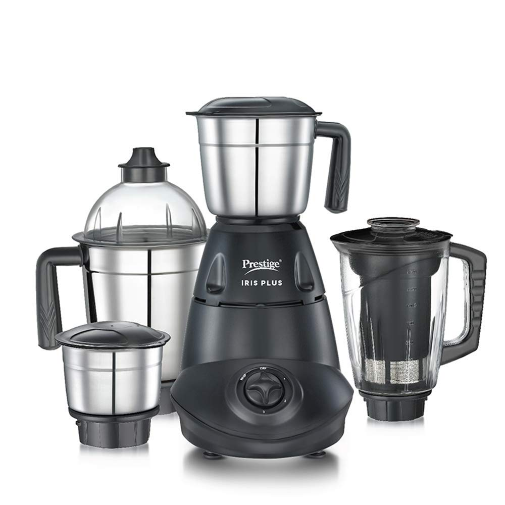 Prestige IRIS Plus 750 watt mixer grinder, Black Complete Review