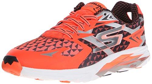 Skechers Performance Men's Go Run Ride 5 Running Shoe, Orange/Black, 10.5 M US