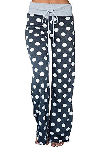 Jogging Sarouel 06 Avec Minetom Noir Large Décontracté Taille Floral Pantalon Sports Haute Yoga Femmes Élastique Eté 5Fqc6yFz