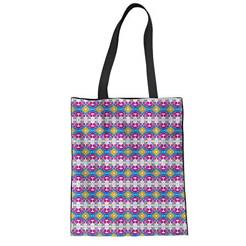 Advocator Damen Reisetaschen Stylish Print Handtasche zum Einkaufen Leichte Lehrer Tote Bag Color-7
