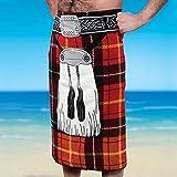 Unisex-Adult Scottish Kilt Design Beach Towel