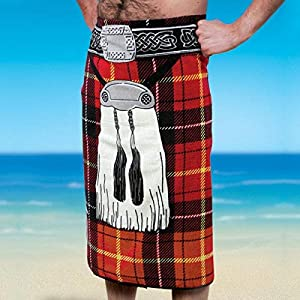 beach towel designs. Unisex-Adult Scottish Kilt Design Beach Towel Designs