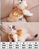 BiBaBoMax Cat Wedding Dress Dog Cat Dress Party Pet Dress Clothes for Small Cat Pet (Champagne - Xs)