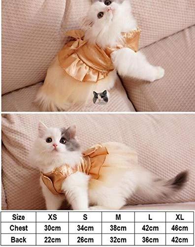 BiBaBoMax Cat Wedding Dress Dog Cat Dress Party Pet Dress Clothes for Small Cat Pet -