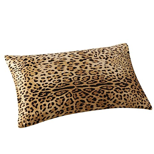 GBSELL Pillow Cover Silk Rectangle Throw Pillow Case Cafe Home Party Christmas Decor Cushion (Le ...