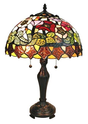 Tiffany Style Stained Glass Poppies Light Table Lamp Shade - Tiffany Poppy