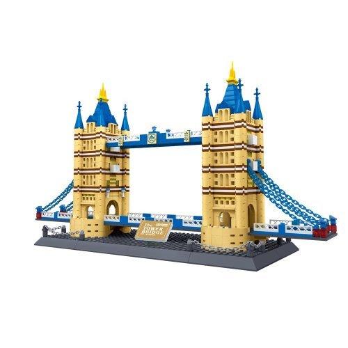 London Tower Bridge - United Kingdom: Tower Bridge of London England Building Blocks 1033 pcs Set World's Great Architecture Series