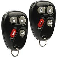 Car Key Fob Keyless Entry Remote fits Cadillac CTS SRX / Chevy Cavalier Malibu / Oldsmobile Alero / Pontiac Grand Am Sunfire / Saturn SC1 SC2 SL SL1 SL2 SW2 (L2C0005T), Set of 2