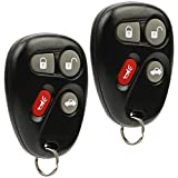 pontiac grand am key fob - Car Key Fob Keyless Entry Remote fits Chevy Corvette Malibu SSR / Pontiac Bonneville Grand Am / Buick Lesabre / Cadillac Deville Seville / Oldsmobile Alero Aurora (KOBLEAR1XT, 25695954), Set of 2