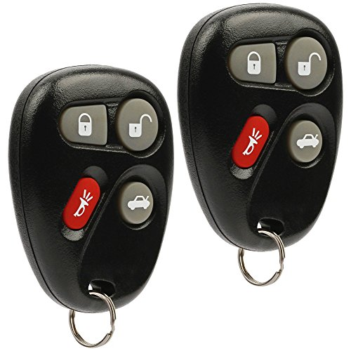 Car Key Fob Keyless Entry Remote fits Chevy Corvette Malibu SSR/Pontiac Bonneville Grand Am/Buick Lesabre/Cadillac Deville Seville/Oldsmobile Alero Aurora (KOBLEAR1XT, 25695954), Set of -
