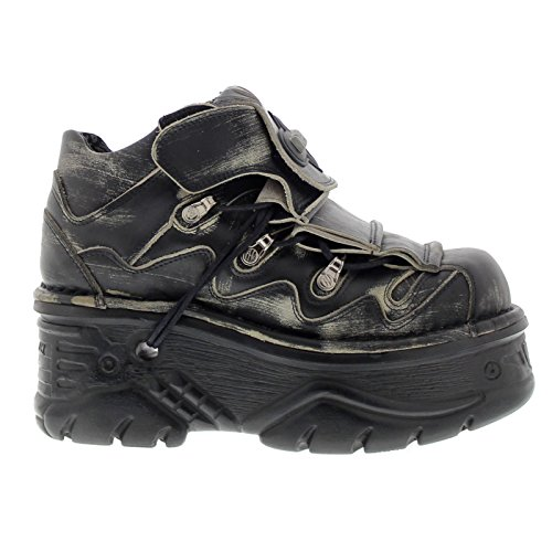 New Rock Mens M.1075 C-23 Turbo Leather Shoes Black