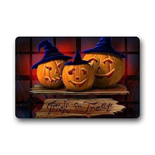 Hi,Doormat Happy Halloween Pumpkin Indoor / Outdoor Non-Slip Rubber Doormats Door Mat 23.6 x 15.7 Inches -