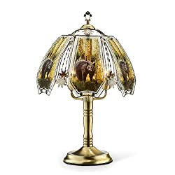 """OK Lighting OK632ABBE8SP3 23.5-Inch Height Touch Lamp with Bear Theme, Antique Bronze, 14.75"""" x 10.75"""" x 9.5"""", Bear Theme"""
