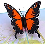Butterfly Pop Up Card, 3D Card, Greeting Cards,Handmade Gifts Ideal for Easter, Thanks Giving, House Warming, Birthdays, Wedding or Anniversaries