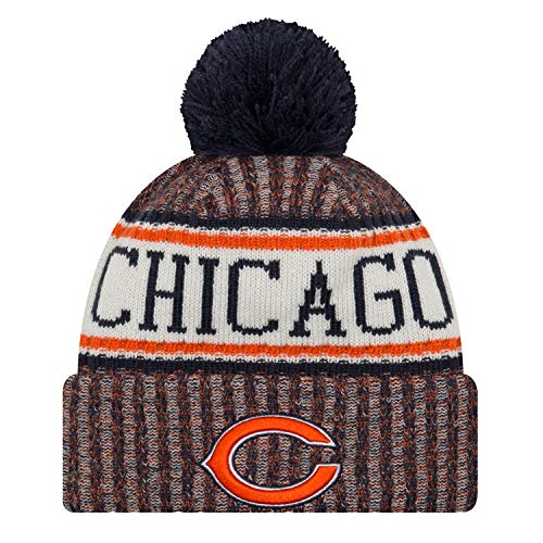 - New Era Chicago Bears NFL 18 Sideline Sport Knit Hat Orange/Navy/White Size One Size