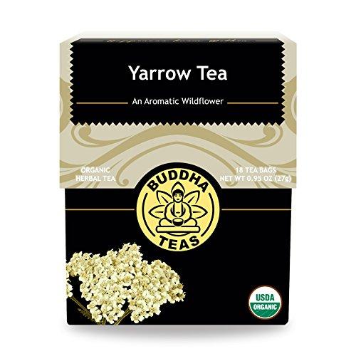 (Organic Yarrow Tea - Kosher, Caffeine-Free, GMO-Free - 18 Bleach-Free Tea Bags)