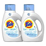 Tide Free And Gentle High Efficiency Liquid Laundry Detergent, 50 Fl Oz (Pack of 2) (Packaging May Vary)