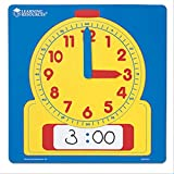 "Toys : Learning Resources Write & Wipe Demonstration Clock, Easy-to-Read, 12"" Square Clock, Ages 6+"