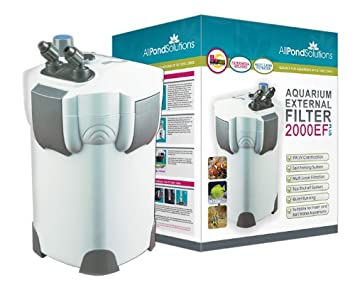 All Pond Solutions - Filtro Externo para Acuario 2000 L/H Plus 9 W, sin luz UV, 2000 EF Plus, Filtro Multimedia: Amazon.es: Productos para mascotas