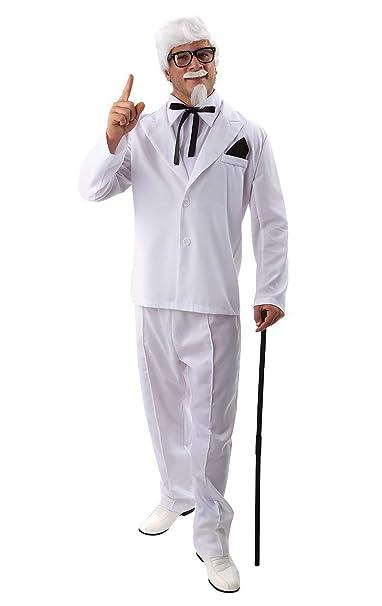 Disfraz de Coronel de Alimentos Traje Blanco para Hombres ...