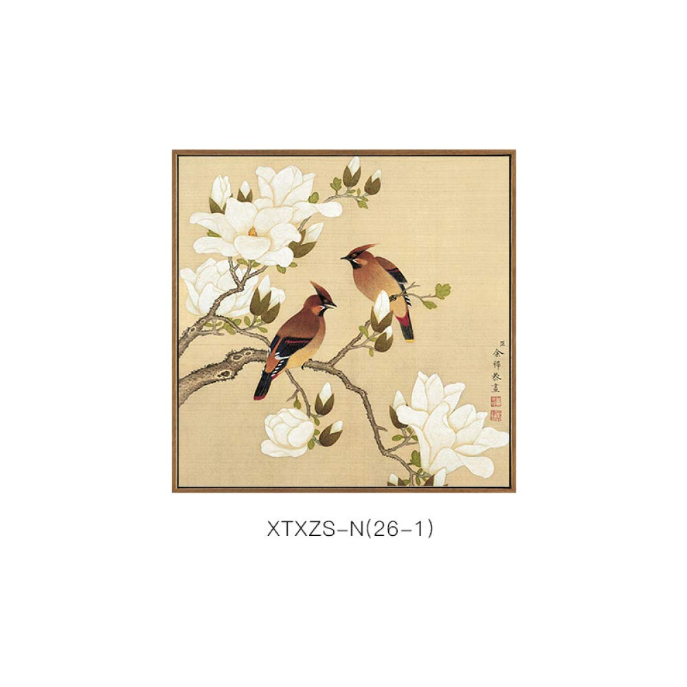 DEE Wall decoration - new Chinese painting, flower bird literary home decoration painting, living room study hotel office background wall decoration,C,7070 by DEE