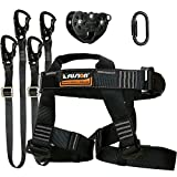 Fusion Climb Tactical Edition Adults Commercial Zip Line Kit Harness/Dual Lanyard/Carabiner/Trolley Bundle FTK-A-HLLCT-08