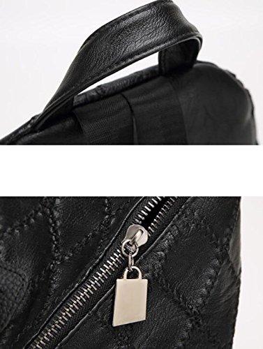 Mme Main D'épaule Sacs Haut à Mode De Carreaux Gamme De Black wU6pWUrPq