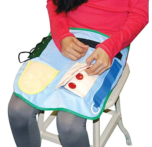Sensory Activities Stimulation (Special Needs Sensory Activity Apron - Helps Improve Dexterity And More (Child Size))
