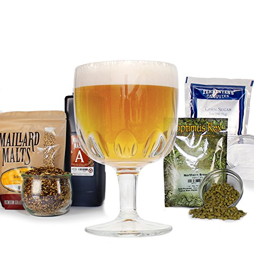 Carmelite Triple-Grain Belgian Tripel - HomeBrewing Beer Brewing Recipe Kit - Partial Mash, Ale With Ingredients For Making Homemade Beer