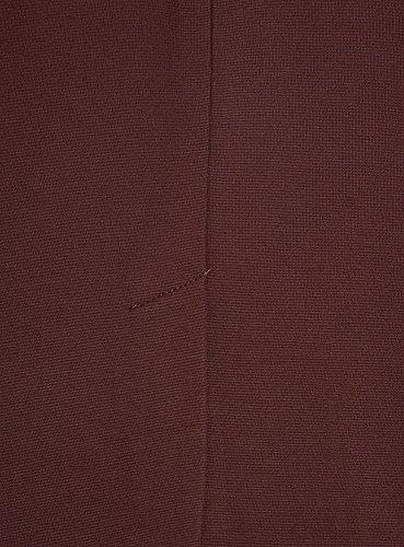 Maille Femme en Collection avec Jupe Rouge 4900n Fente oodji 5waSqInAA