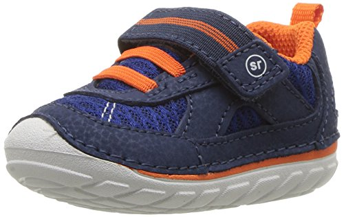 (Stride Rite Boys' Soft Motion Jamie Sneaker, Navy/Orange, 5.5 M US Toddler)