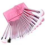 22pcs Superior Professional Soft Cosmetic Makeup Brush Set Pink + Pouch Bag Case 10007385