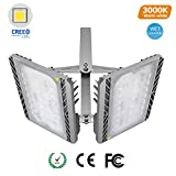 STASUN LED Flood Light, 200W Super Bright Outdoor Security Lights with Wide Lighting Area, CREE LED Source, 18000lm, 3000K Warm White, Waterproof Outdoor Wall Lightsfor Back Yard, Driveway, Garage
