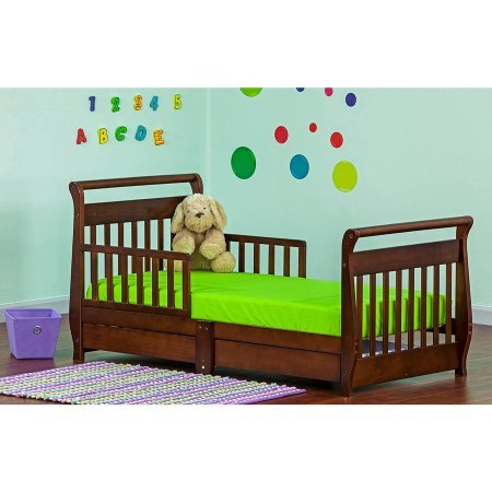 Dream On Me, Sleigh Toddler Bed with Storage (Girls Sleigh Bed)