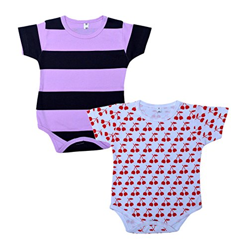Little Stars Baby-Girls Rompers – Pack of 2