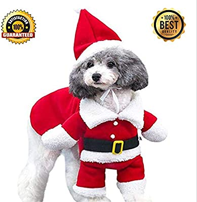 b66f0f844a8 Amazon.com  Kizaen Christmas Costumes Small Dog Medium Large Dog Cat ...