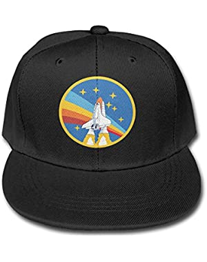 NASA Rocket Youth Unisex Adjustable Flat Hat Bill Baseball Hats Outdoor Sports In 4 Colors