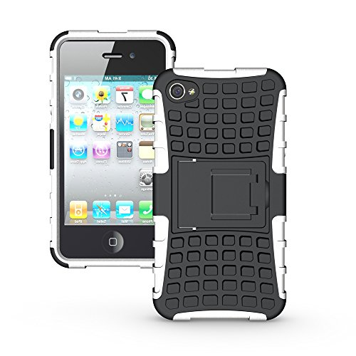 iphone 4 4s phone case [Tire profile series]TPU+PC Stylish Heavy Duty Shock Proof Armour Dual Protection cover for iphone 4 4s (Adidas Iphone 4s Case)
