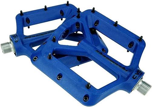 cypressen - 1 par de Pedales de Bicicleta de montaña, Pedales de Bicicleta, Trekking, Bicicleta de Carreras, Pedales de Nailon con rodamientos de Fibra de Carbono, Ligeros para MTB, Azul: Amazon.es: Deportes
