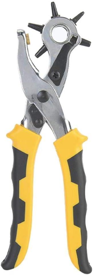 JF-XUAN tenailles Ceinture perforatrice 3 pi/èces Ceinture en cuir perforatrice Pince Pince de ceinture Craft outil et kit bouton de ceinture en m/étal Jardin Outils /à main
