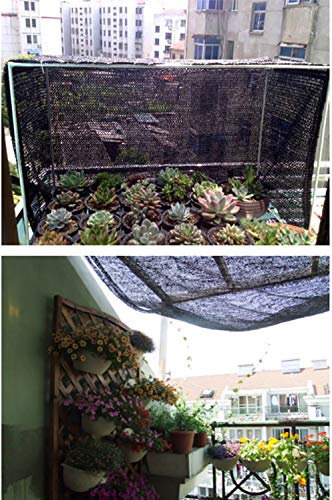 Hwpb Shading net Black shed top Floor Balcony Anti-Insulation Shading net Light Control Gardening Tools by Hwpb (Image #4)