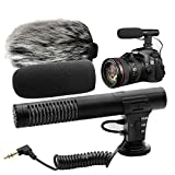 Video Microphone, Photography Interview MIC Microphone Compatible Sony, Nikon Canon,DSLR Cameras, Camcorders. (3.5mm Interface)(Except for Canon T5i,T6)