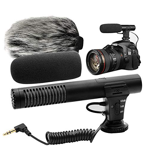Video Microphone, Photography Interview MIC Microphone Compatible Sony, Nikon Canon,DSLR Cameras, Camcorders. (3.5mm Interface)(Except for Canon ()