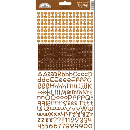 DOODLEBUG Teensy Type Cardstock Alphabet Stickers-Bon ()