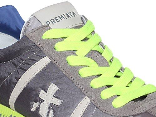 PREMIATA Sneaker Camoscio e Tessuto Tecnico con Para in Gomma e Logo Laterale