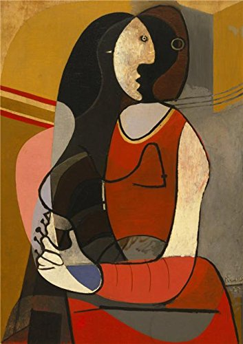 Perfect Effect Canvas ,the High Definition Art Decorative Canvas Prints Of Oil Painting 'Pablo Picasso-Seated Woman,1927', 20x28 Inch / 51x72 Cm Is Best For Kids Room Decor And Home Decoration And Gifts ()