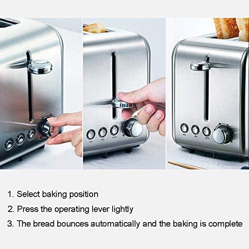 Roestvrij staal Broodroosters, 2-Slice Toaster, met ontdooien, opwarmen en annuleren knoppen, voorzien van High-Lift en variabele breedte, 6 Browning Instelling