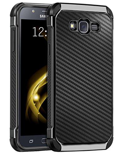 Slim Shockproof Case for Samsung Galaxy J7 (Black) - 5